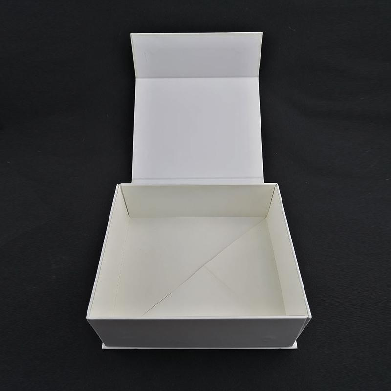 Recycled silver hot stamping 2 pieces fold out box