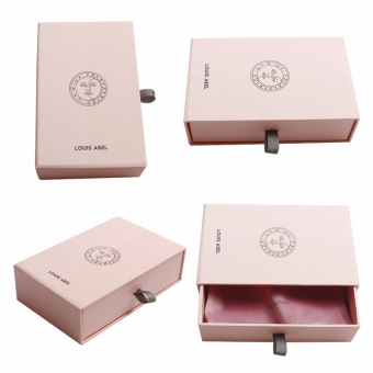 High-end specialty paper  pink make-up bespoke drawer box