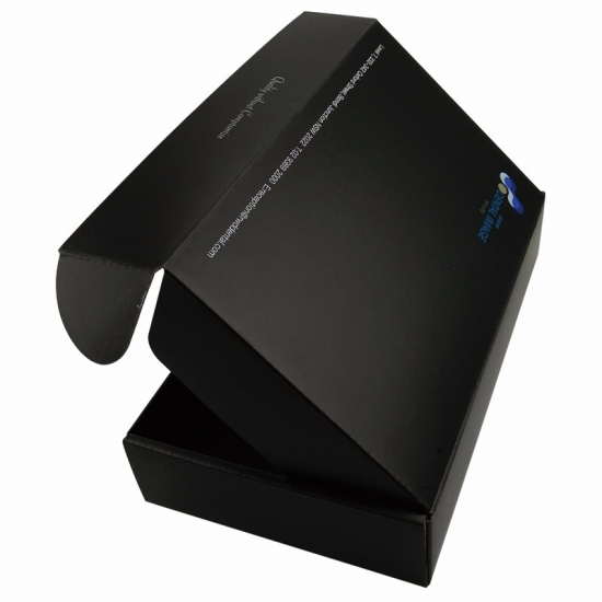 Custom Black  Electronic Products  Folding Shipping Boxes
