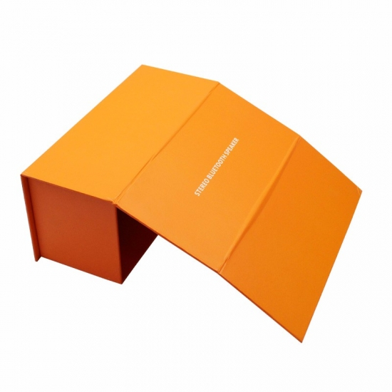Double-sided orange full printing flat lid gift box