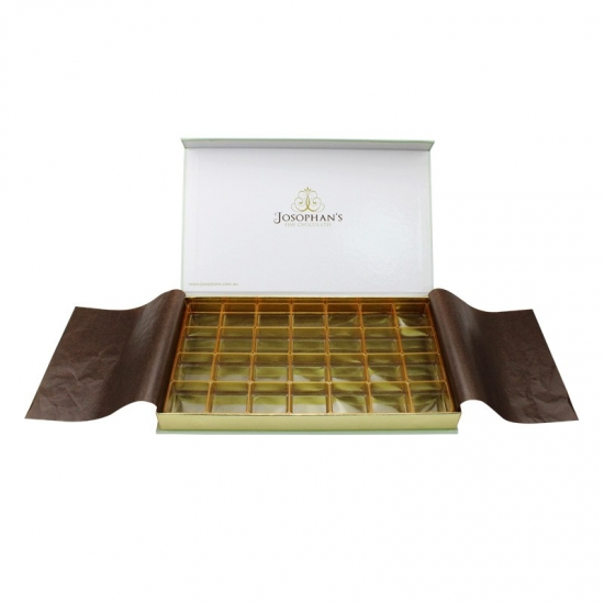 Green Chocolate Flip Top Gift Boxes With Magnetic Catch