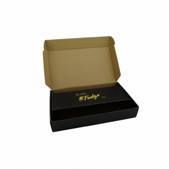 Custom logo black personalized brown interior shipping boxes