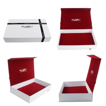 Large White Magnetic Keepsake Box