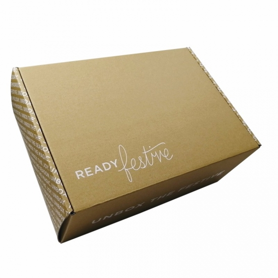 custom cardboard outside brown with white logo large mailing boxes