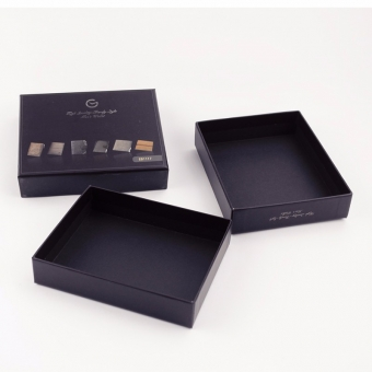 Custom cheap but good quality small notebook black box with lid
