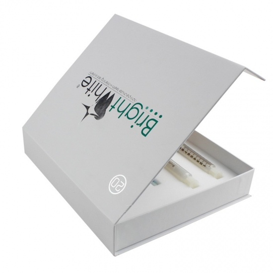 White Flip Top Double-sided white book box