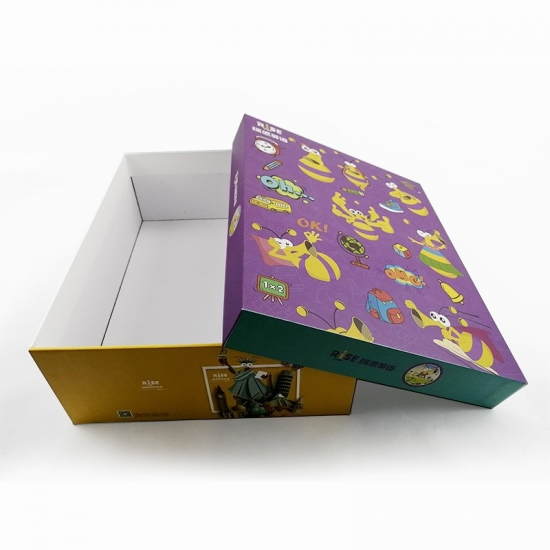 large colored pattern rectangle gift boxes with lids