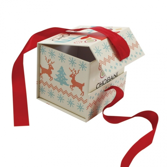small magnetic flat pack christmas gift boxes with ribbon