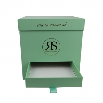 green square giant tall gift box with drawer insert