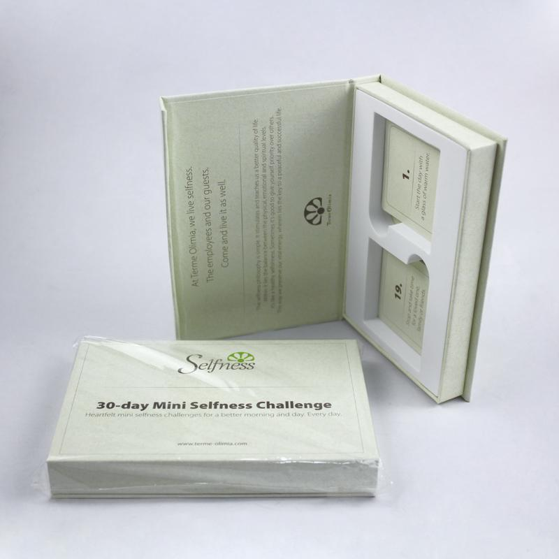 custom small book shaped magnetic gift boxes with EVA liner
