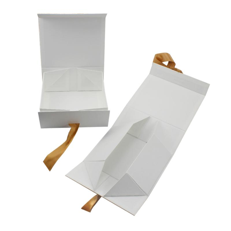 White Gift Box With Ribbon