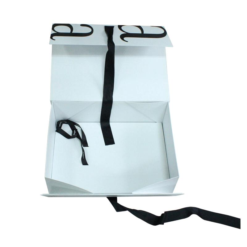 A4 folding gift box With Ribbon